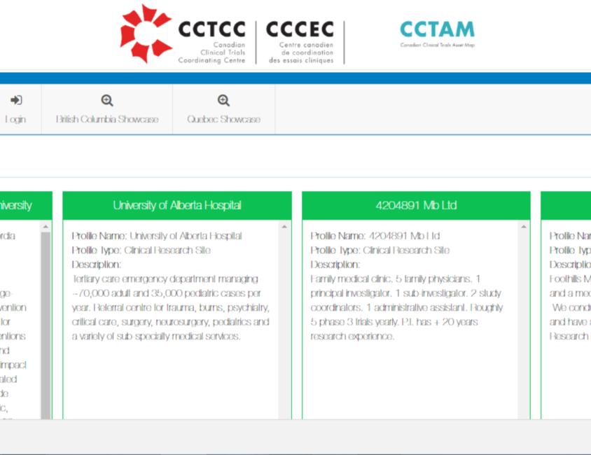 The Canadian Clinical Trials Asset Map (CCTAM)